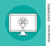 programming outline icon on... | Shutterstock .eps vector #1045349893