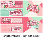 spring sale banners poster tag... | Shutterstock .eps vector #1045351330