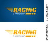 racing championship vector icon.... | Shutterstock .eps vector #1045353394