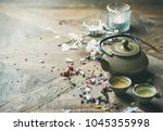 traditional asian tea ceremony... | Shutterstock . vector #1045355998