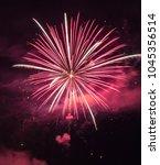 Small photo of Fireworks at Amana, Iowa, July 4, 2017