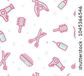 beauty salon cosmetic vector... | Shutterstock .eps vector #1045366546