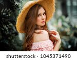 close up portrait of a ... | Shutterstock . vector #1045371490