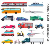 transport vector public... | Shutterstock .eps vector #1045378090