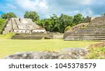 belize  central america  altun... | Shutterstock . vector #1045378579