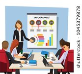 business people having board... | Shutterstock .eps vector #1045379878