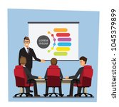 business people having board... | Shutterstock .eps vector #1045379899