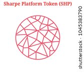 vector sharpe platform token ... | Shutterstock .eps vector #1045383790