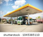 blurred image of gas station... | Shutterstock . vector #1045385110