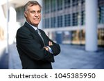 confident male manager | Shutterstock . vector #1045385950
