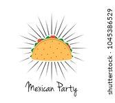 taco vector illustration in... | Shutterstock .eps vector #1045386529