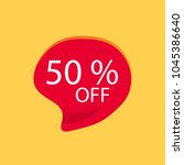 50  off discount sticker  on... | Shutterstock .eps vector #1045386640