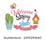 seasonal weather spring | Shutterstock .eps vector #1045390660