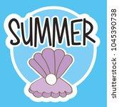 seasonal weather summer | Shutterstock .eps vector #1045390738