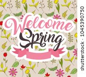 seasonal weather spring | Shutterstock .eps vector #1045390750