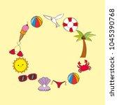 seasonal weather summer | Shutterstock .eps vector #1045390768