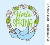 seasonal weather spring | Shutterstock .eps vector #1045390774