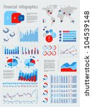 financial infographic set with... | Shutterstock .eps vector #104539148