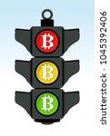 bitcoin traffic lights  sell or ... | Shutterstock .eps vector #1045392406