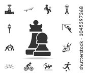 chess figures silhouettes icon. ... | Shutterstock .eps vector #1045397368