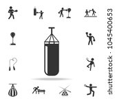 punching bag icon. detailed set ... | Shutterstock .eps vector #1045400653
