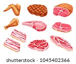 meat watercolor paint vector... | Shutterstock .eps vector #1045402366