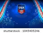 flag of usa background for... | Shutterstock .eps vector #1045405246