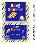 baby shower party invitation... | Shutterstock .eps vector #1045406704