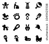 solid vector icon set   baby... | Shutterstock .eps vector #1045425538