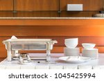 catering set on white table | Shutterstock . vector #1045425994