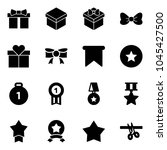 solid vector icon set   gift... | Shutterstock .eps vector #1045427500