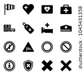 solid vector icon set   side... | Shutterstock .eps vector #1045431358