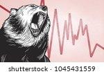 illustration of roaring bear | Shutterstock . vector #1045431559