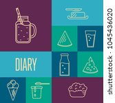 assortment of different dairy... | Shutterstock . vector #1045436020