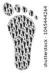 human footprint figure composed ... | Shutterstock .eps vector #1045444264