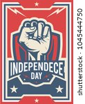 independence day poster  fist... | Shutterstock .eps vector #1045444750