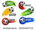 soccer game sport or football... | Shutterstock .eps vector #1045445713