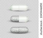 capsule pill set isolated on... | Shutterstock .eps vector #1045446850