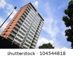Block Of Old Council Flats In...