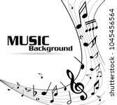 abstract music notes on line...   Shutterstock .eps vector #1045456564