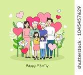 happy family illustration | Shutterstock .eps vector #1045457629