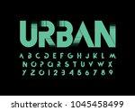 vector of modern abstract font... | Shutterstock .eps vector #1045458499