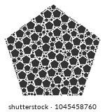 pentagon figure figure combined ... | Shutterstock .eps vector #1045458760