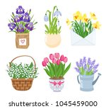 summer and spring flowers in... | Shutterstock .eps vector #1045459000