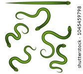 vector realistic. the snake is... | Shutterstock .eps vector #1045459798