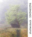 broken shelter got a nature... | Shutterstock . vector #1045463296