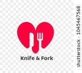 heart logo icon for healthy... | Shutterstock .eps vector #1045467568