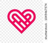 heart logo vector icon.... | Shutterstock .eps vector #1045467574