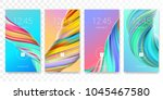 mobile screen lock display with ... | Shutterstock .eps vector #1045467580
