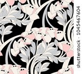seamless floral pattern with...   Shutterstock .eps vector #1045467604